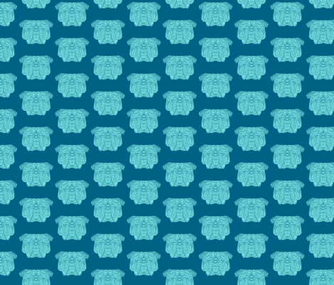 Blue British Bulldog fabric by antonybriggs on Spoonflower - custom fabric