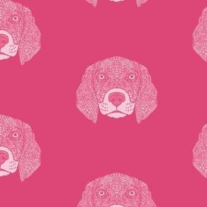 Pink Beagle Pattern