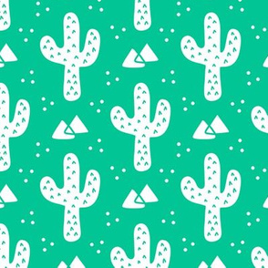 Green Modern Cacti