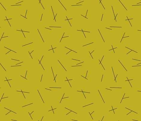 Abstract Scandinavian mid century style stripes mustard yellow fabric by littlesmilemakers on Spoonflower - custom fabric