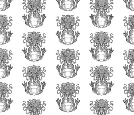 Dragon Pattern - White Background fabric by antonybriggs on Spoonflower - custom fabric