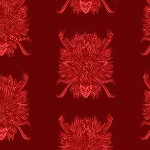 Red Bird Dragon Pattern
