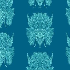 Big Horn Dragon Blue Pattern