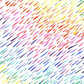 Watercolour Rainbow Dashes