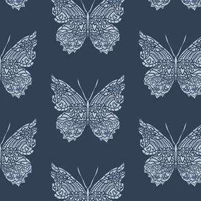 Navy Butterfly Pattern