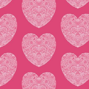 Pink Butterfly Heart Pattern