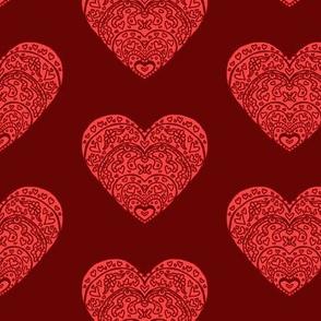 Dark Red Hearts