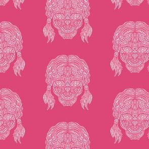 Pink Girl Sugar Skull