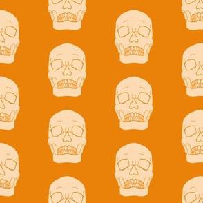 Orange Skull Pattern