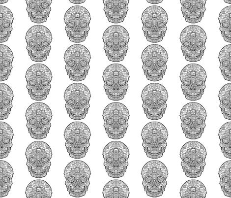 Robot Sugar Skull Pattern fabric by antonybriggs on Spoonflower - custom fabric