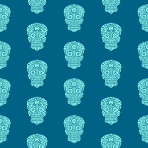 Blue Sugar Skull pattern