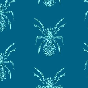 Scary Blue Spider Pattern