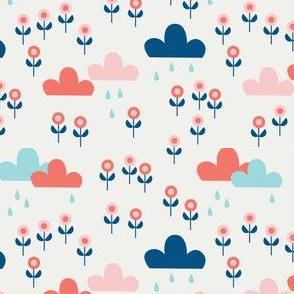 Good summer rain - White