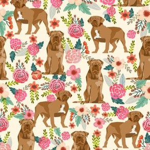french mastiff floral dog breed fabric light