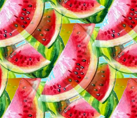 Wild about Watermelon fabric by floramoon on Spoonflower - custom fabric