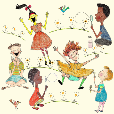 Clap Happy fabric by sowgoodgreta on Spoonflower - custom fabric