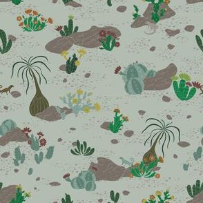 Cactus House Desert Scene
