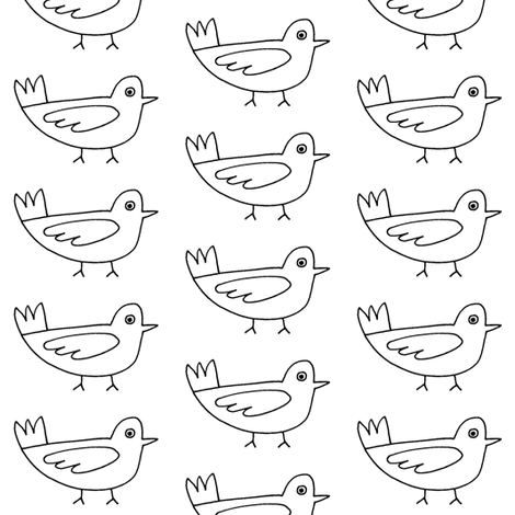 birds fabric by farreystudio on Spoonflower - custom fabric