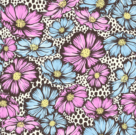 Floral Dots fabric by cyril_trinidad on Spoonflower - custom fabric
