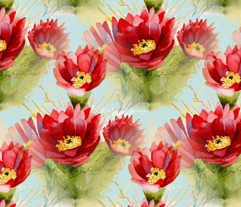 Cactus Flower fabric by floramoon on Spoonflower - custom fabric