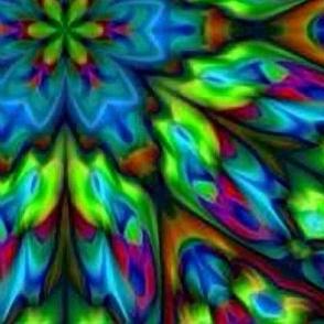 Green Blue Triangle Kaleidoscope