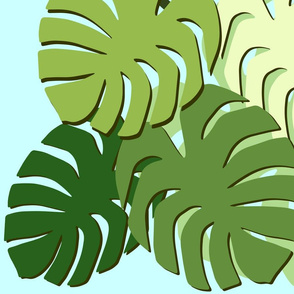 monstera cluster various with bird of paradise 2