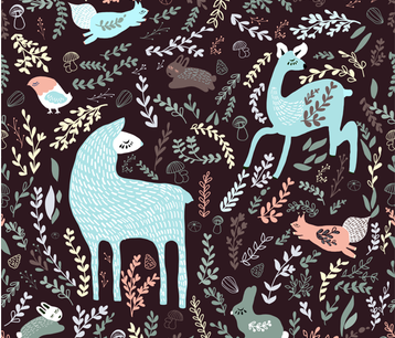 Forest Animals fabric by cacostadesign on Spoonflower - custom fabric