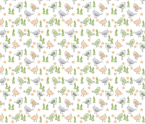 Birdybaby fabric by lollymama on Spoonflower - custom fabric