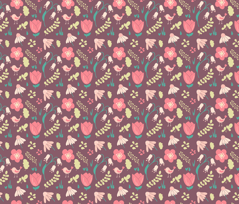 Spring pattern fabric by molecula on Spoonflower - custom fabric