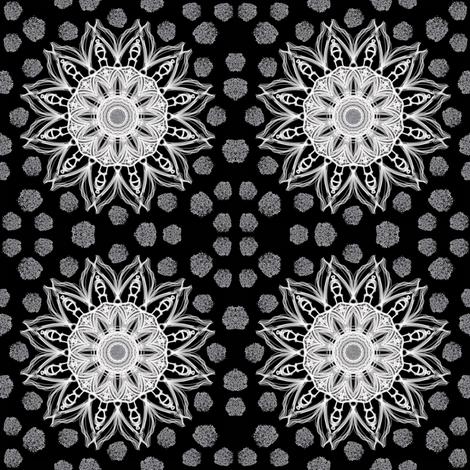 Sun & Snow fabric by carlacryptic on Spoonflower - custom fabric