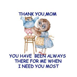 Thank you Mom, Inga Izmaylova funny cute Owls