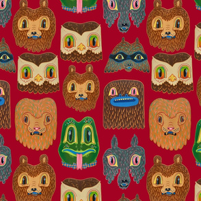 Animal Wallpaper red