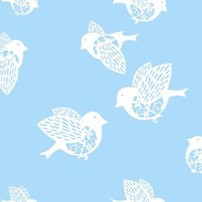 Sparrow pastel blue