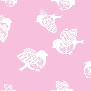 Sparrow pastel pink