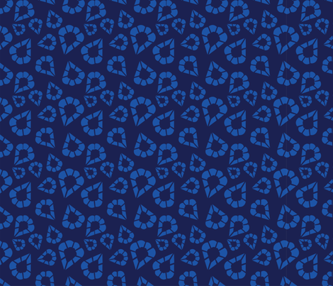 Inspired by Punto in Aria  Blue (4) fabric by jane_oleary on Spoonflower - custom fabric