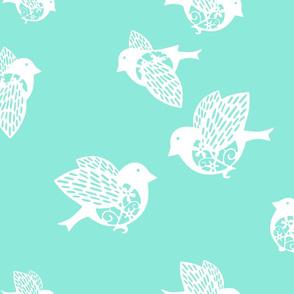 Sparrow pastel aqua
