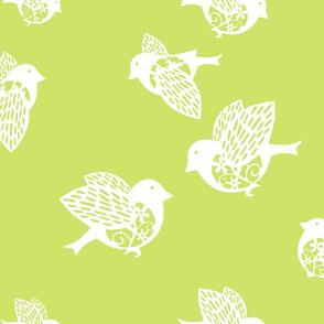 Sparrow pastel green