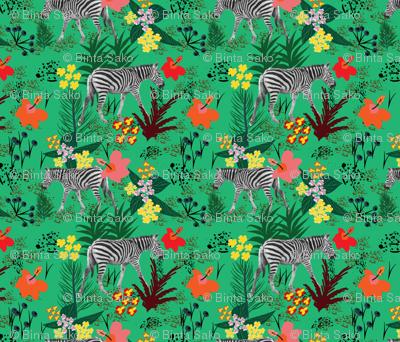 Zebras in the garden of Eden