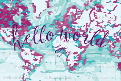 "54"" orchid hello world blanket"