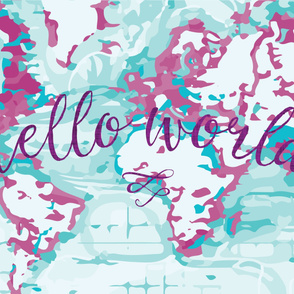 "54"" orchid hello world blanket"