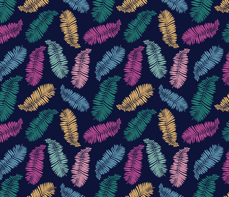 Bright Color Palms fabric by lemonlovegood on Spoonflower - custom fabric