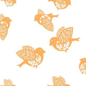 Sparrow pastel orange 02