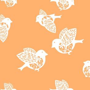 Sparrow pastel orange