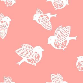 Sparrow pastel coral