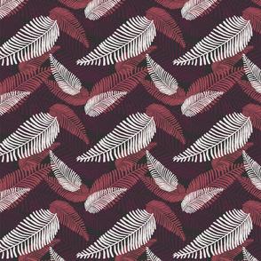 Skeleton Leaves - Dark Dusky Pink