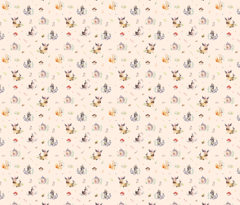 Forest illustration  20 fabric by peace_shop on Spoonflower - custom fabric