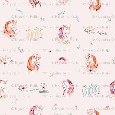 Cute watercolor unicorn 4