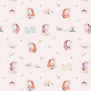 Cute watercolor unicorn 3