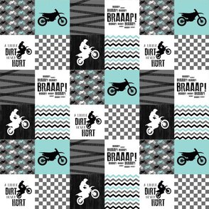 3 inch - Motocross//A little dirt never hurt - wholecloth cheater quilt