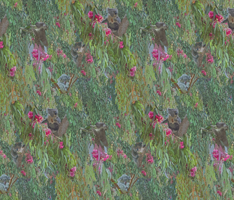 Koalas in the Eucalyptus Trees fabric by margaret_ann_missman_designs on Spoonflower - custom fabric